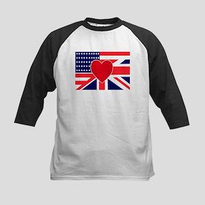 USA & UK Love Kids Baseball Jersey