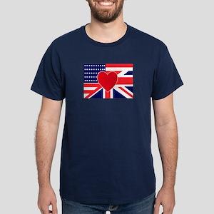 USA & UK Love Dark T-Shirt