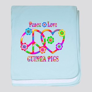 Peace Love Guinea Pigs baby blanket