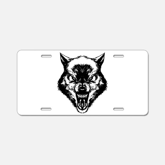 The Wolf Aluminum License Plate