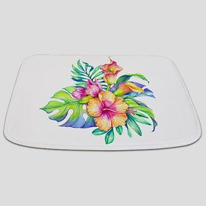 Tropical Flowers Bouquet Bathmat
