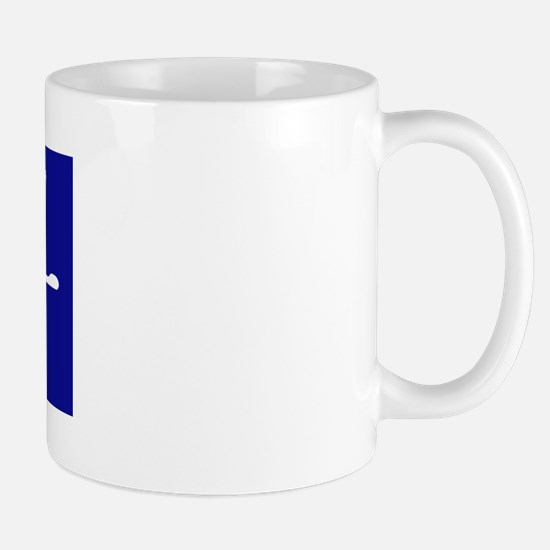 """Dad"" in Korean BLUE Mug"