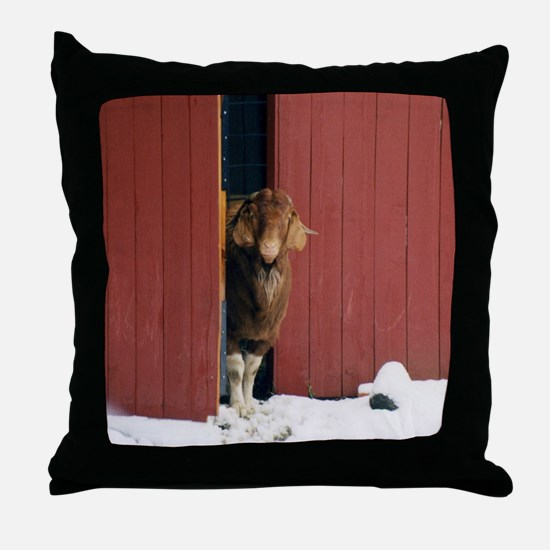 Boer Goat Throw Pillow