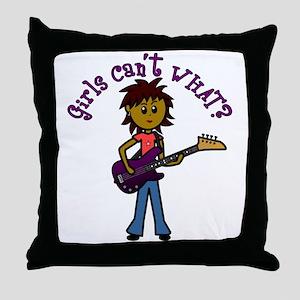 Dark Bass Guitar Throw Pillow