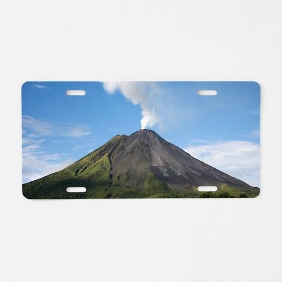 Arenal Volcano In Costa Ric Aluminum License Plate