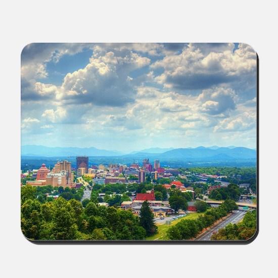 Asheville, North Carolina skyline nestle Mousepad