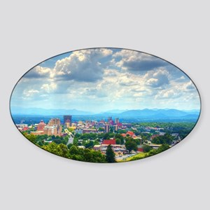 Asheville, North Carolina skyline n Sticker (Oval)