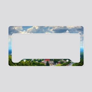 Asheville, North Carolina sky License Plate Holder