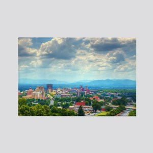 Asheville, North Carolina skyline Rectangle Magnet