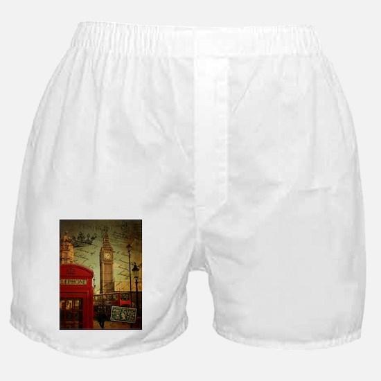 vintage London UK fashion Boxer Shorts