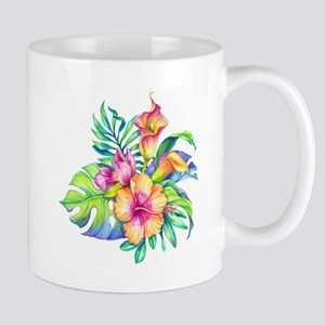 Tropical Flowers Bouquet Mugs