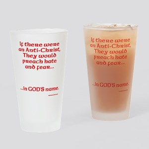 The real Anti-Christ Drinking Glass
