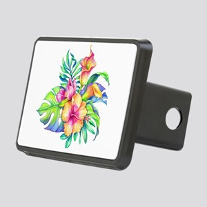 Tropical Flowers Bouquet Rectangular Hitch Cover