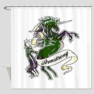 Armstrong Tartan Unicorn Shower Curtain