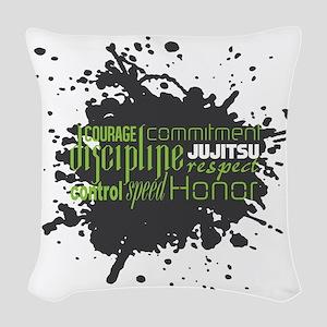 Jujitsu Inspirational Splatter Woven Throw Pillow