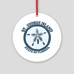 St. George Island - Sand Dollar Design. Ornament (