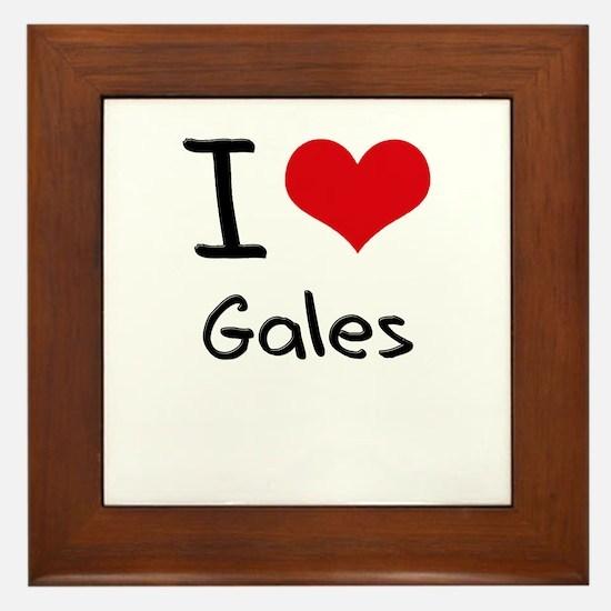 I Love Gales Framed Tile