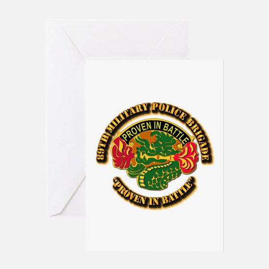 Army - DUI - 89th Military Police Brigade Greeting