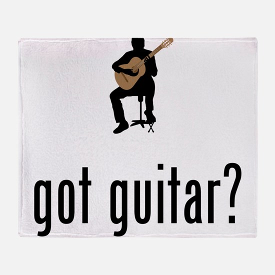 Classical Guitar Throw Blanket
