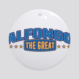 The Great Alfonso Ornament (Round)