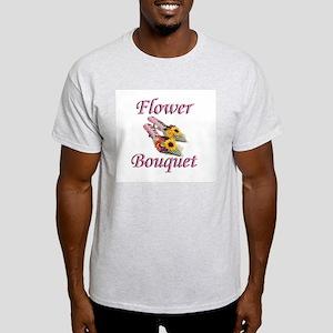 Flower Bouquet Ash Grey T-Shirt