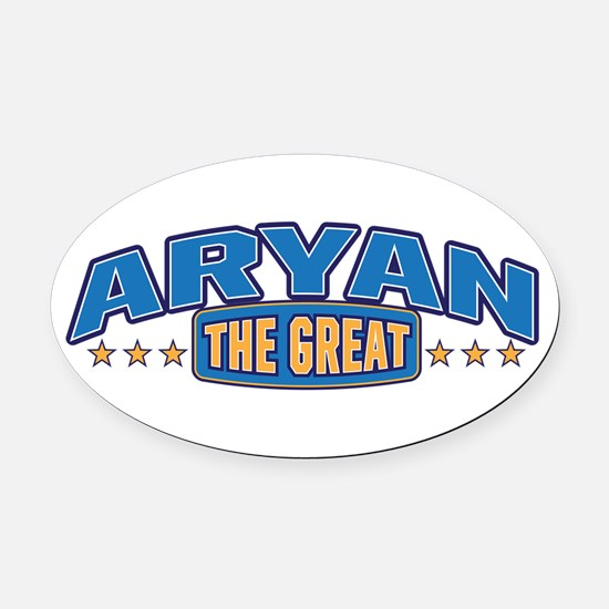The Great Aryan Oval Car Magnet