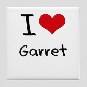 I Love Garret Tile Coaster