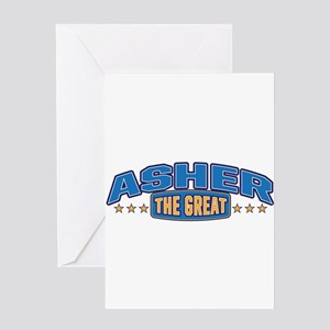 The Great Asher Greeting Card