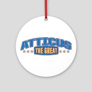 The Great Atticus Ornament (Round)