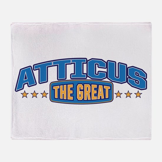 The Great Atticus Throw Blanket