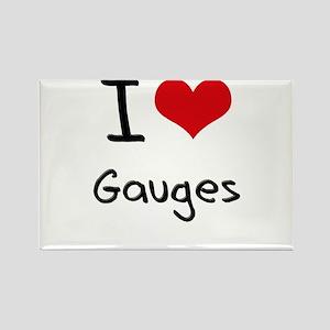 I Love Gauges Rectangle Magnet