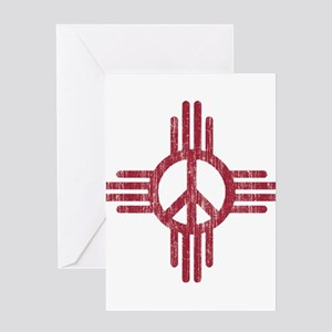 New Mexico Peace Sign Greeting Card