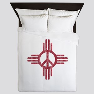 New Mexico Peace Sign Queen Duvet