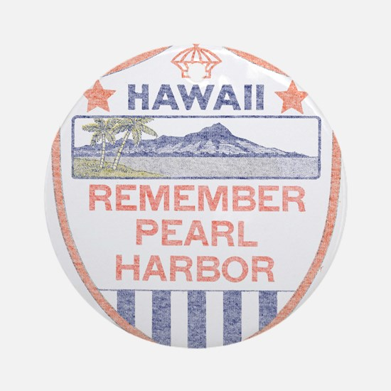 Remember Pearl Harbor Ornament (Round)