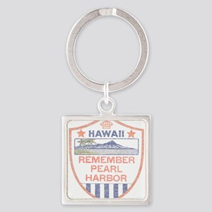 Remember Pearl Harbor Square Keychain