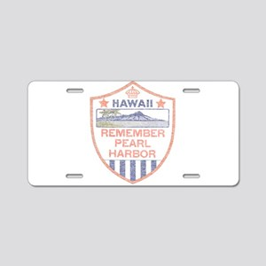 Remember Pearl Harbor Aluminum License Plate