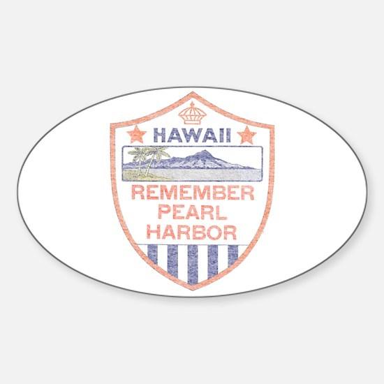 Remember Pearl Harbor Sticker (Oval)