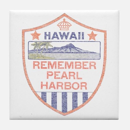 Remember Pearl Harbor Tile Coaster