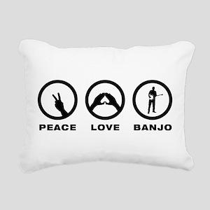 Banjo Player Rectangular Canvas Pillow