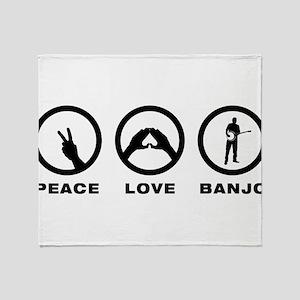 Banjo Player Throw Blanket