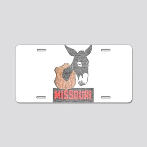 Vintage Missouri Jackass Aluminum License Plate