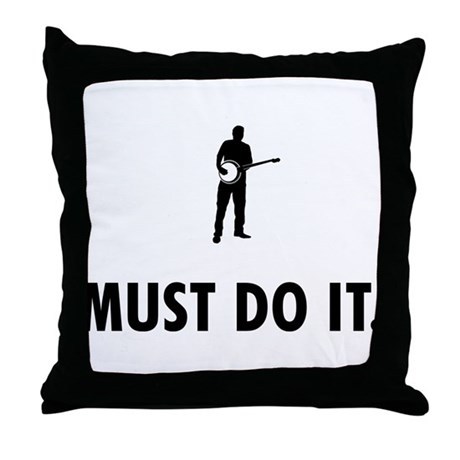 Banjo Player Throw Pillow
