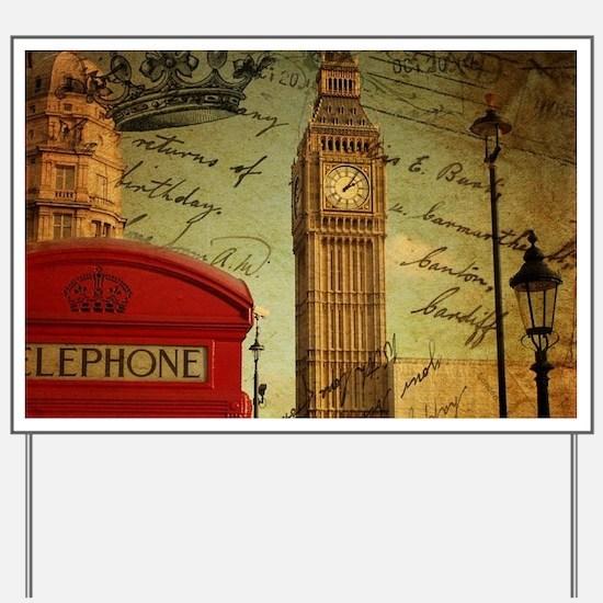 vintage London UK fashion Yard Sign