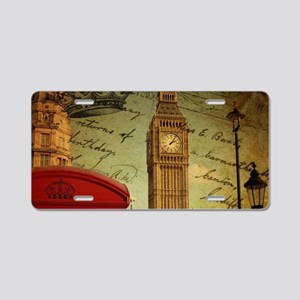 vintage London UK fashion Aluminum License Plate