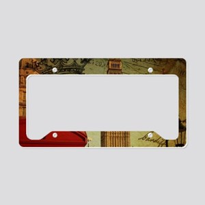 vintage London UK fashion License Plate Holder