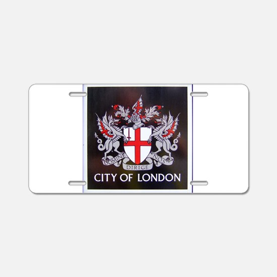 City of London Crest Aluminum License Plate