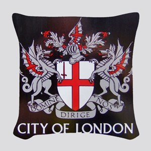City of London Crest Woven Throw Pillow