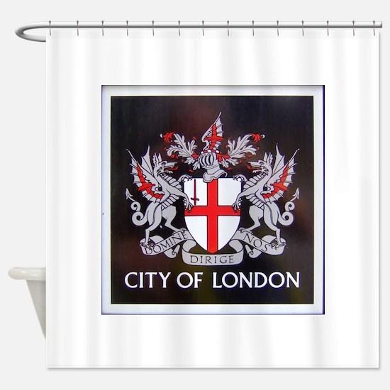 City of London Crest Shower Curtain