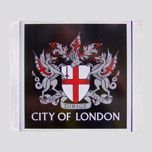 City of London Crest Throw Blanket