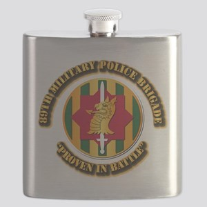 Army - SSI - 89th Military Police Brigade Flask